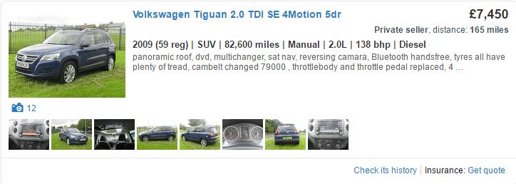 Good example of a car display advert