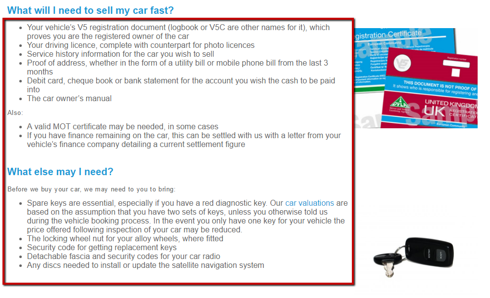 car buying service terms of service