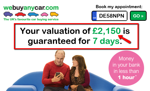website quotation from We Buy Any Car website