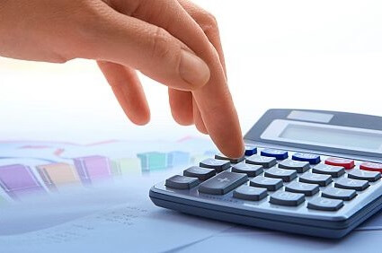 image of calculator to work out the cost of car bank loan