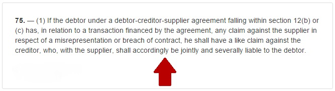 section 75 of the consumer credit act image for credit card purchases imagejpg