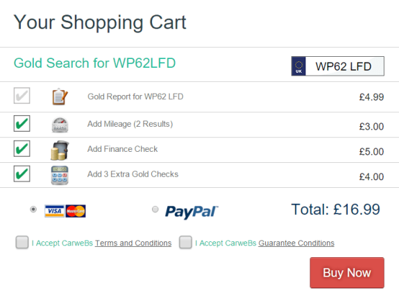shopping cart image for a car records purchase - Used cars