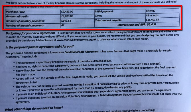 image of official finance agreement Zuto and Moneybarn