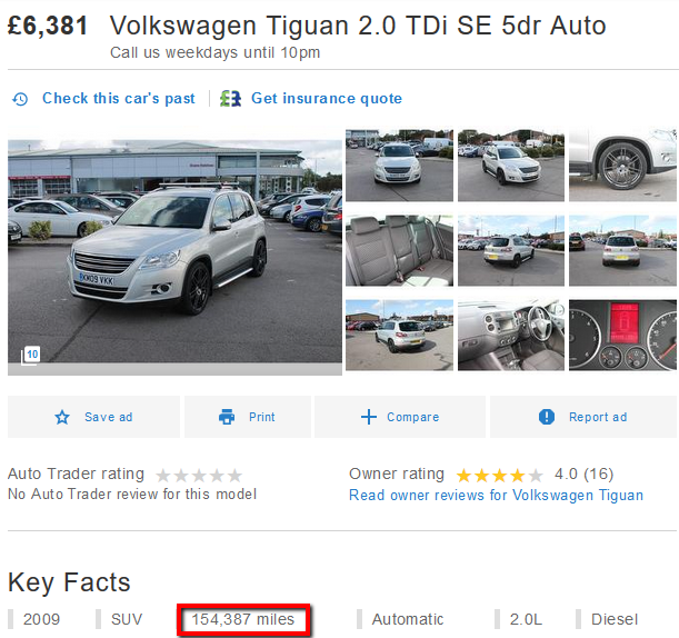 comparing a VW Tiguan price to a Vauxhall Astra image