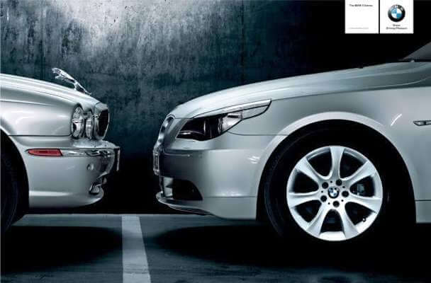 ad depicting that BMW are superior to Jaguar