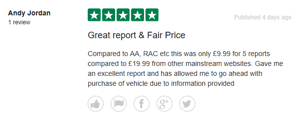 instant car check reviews image from Trust Pilot