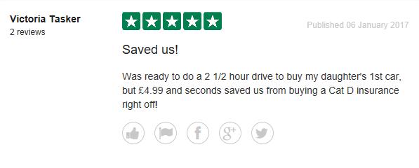 Trust Pilot reviews for Instant Car Check