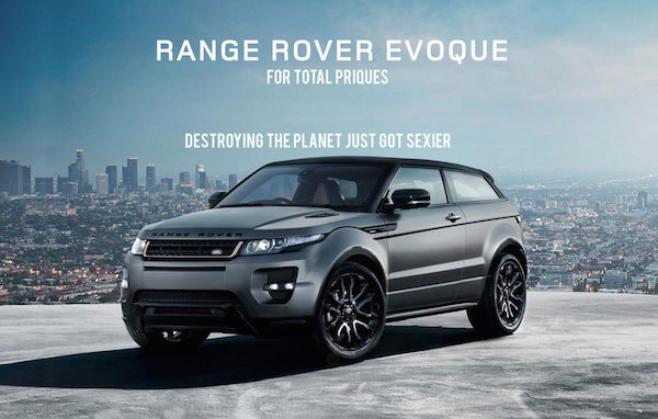 controversial print and bill board ad from Land Rover