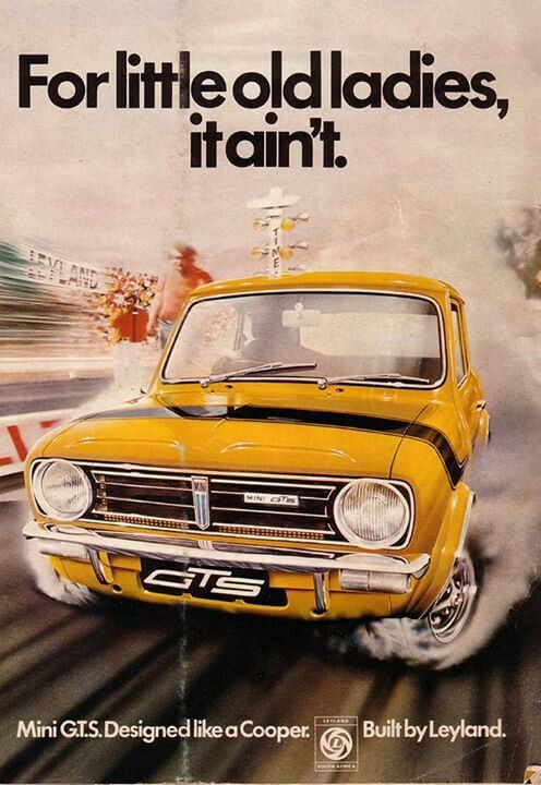 classic mini print ad about speed and fun