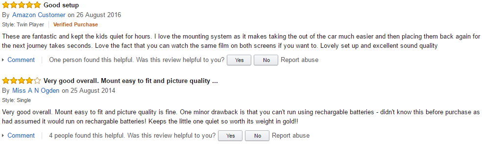 official review of Voyager 7 in car DVD player from Amazon.co.uk