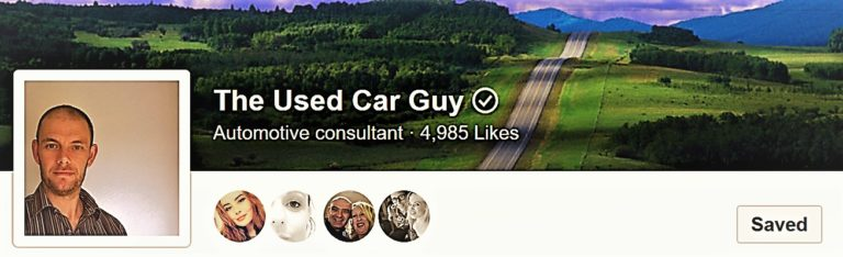 follow Used Car Guy on Facebook with more than 4,500 dedicated followers