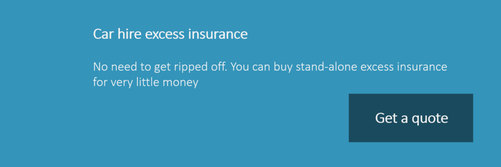 Car Hire Cdw Excess Insurance