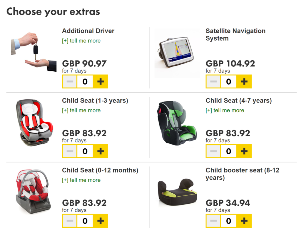 Child booster seat hire with a car rental company in the uk can be very expensive